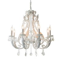 America Style Palais Chandelier Rustic White Slivery Golden Grey Lustre K9 Crystal Lamp Shop Restaurant Chandelier