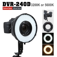 Falconeyes 240 Ring LED Panel 5600K Lighting Video Film Continuous Lamp W/Camera Bracket/ filter free shipping DVR 240D
