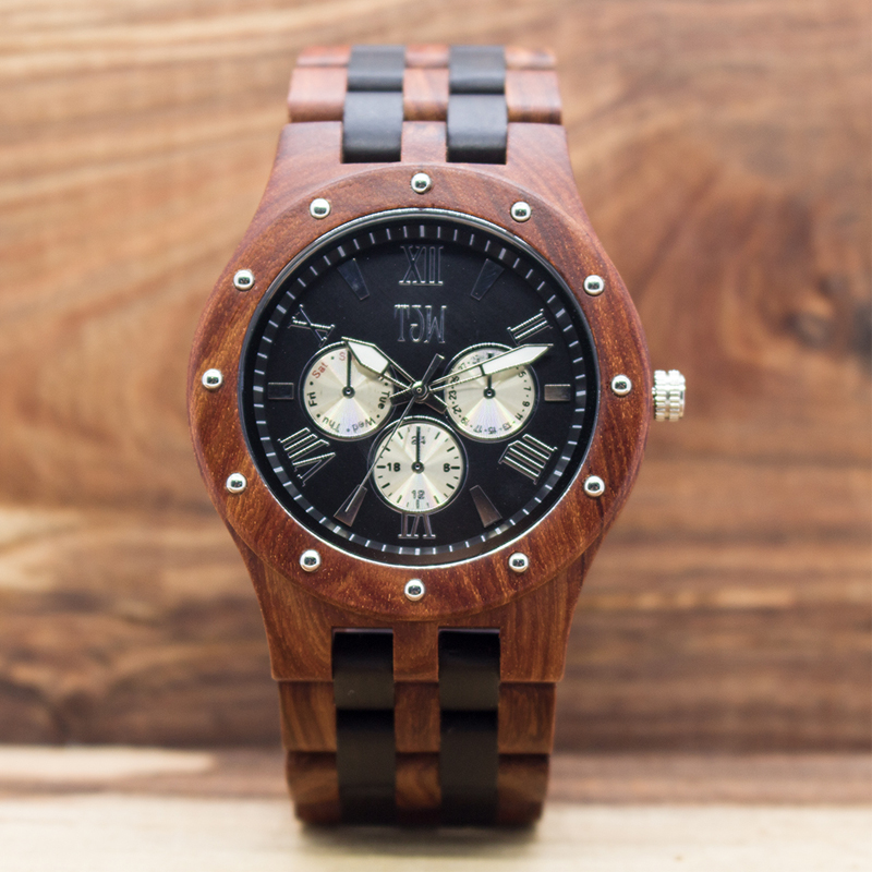 Relogio Masculino TJW Top Brand Designer Mens Wood Watch Natural Wooden Sport Clock Quartz Watches for Men Watch Saat wooden wrist watch mens top luxury brand new natural quartz wooden verawood watches men clock wood watch with led luminous watch