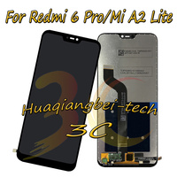 5.84'' New For Xiaomi Redmi 6 Pro Redmi 6Pro Full LCD DIsplay +Touch Screen Digitizer Assembly For Xiaomi Mi A2 Lite 100% Tested
