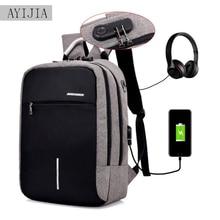 USBcharging backpack Anti theft Expandable Laptop Men Backpack Male Schoolbag Female Travel Business Backpacks Women College Bag