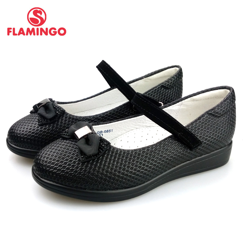FLAMINGO 2018 New Foot Arch design a Spring&Summer Hook&Loop Outdoor Size 31-36 school shoes for girl Free Shipping 82T-GB-0851