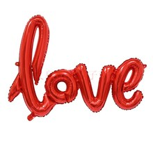 New  Foil love Balloon Anniversary Wedding Valentines Decoration Ligatures LOVE Lette Party Supplies