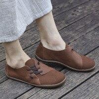 (35 46)Women's Shoes plus size Plaine toe Slip on Ballet Flats Genuine Leather Ladies Flat Shoes Female Footwear (5188 5)