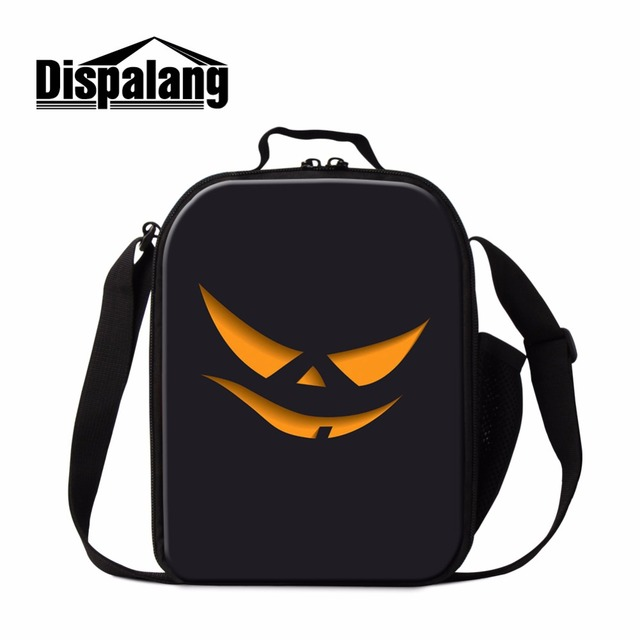 dispalang skull pumpkin kids lunch box bag food picnic bags for women cooler lunch bag halloween