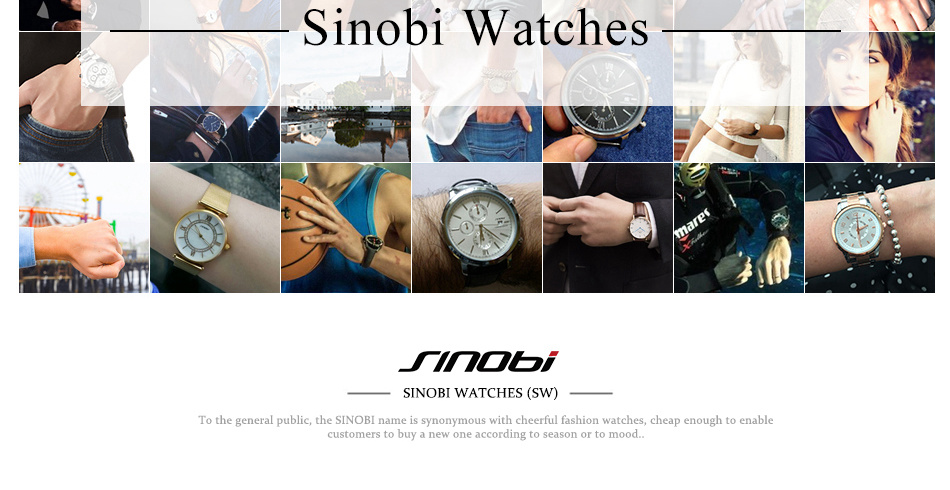 SINOBI Surfing Clock 3Bar Waterproof Watch Mens Sports Wristwatch Designer Branded Chronograph Male Spy Geneva Quartz-watch 007 39