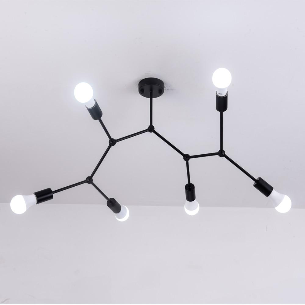 Plafond moderne à LEDs lustre éclairage salon chambre lustres moléculaires plusieurs têtes créatives luminaires à la maison