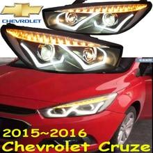 Cruz headlight,2015~2017 Fit for LHD,RHD need add 200USD),Free ship!Jetta headlight,2ps/se+2pcs Aozoom Ballast; Cruz