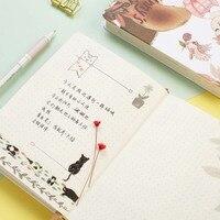 Nueva Lindo del Cuaderno Duro Copia Superficie Cubierta 128 Hojas Soleado Secreto Notebook Bloc de notas de Color Cuaderno libro Material Escolar Oficina