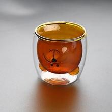 Креативная кружка с двойным стеклом модные чашки милым мультяшным
