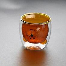 Creative double-glazed mug Fashion cute cartoon bear cups kid tea milk coffee Indoor office high quality Gift Cups Drinkware