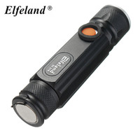 2000LM 3Modes T6 LED Flashlight Rechargeable Torch MagneticTail Zoomable LED Torch USB Charging Super Bright