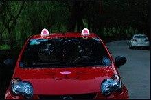 1 пара автомобиля Стайлинг крыши украшения прекрасный кот уха световой внешняя декоративная модификация ABS сильных магнитных встроенный Батарея