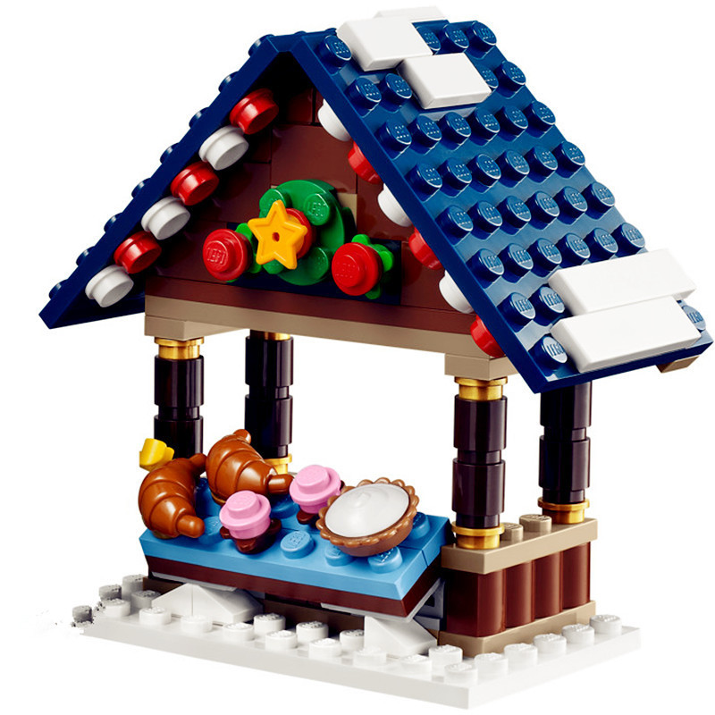 lepin 36010 1412pcs creative series creator winter village market building blocks bricks toys for children christmas gift 10235 in blocks from toys