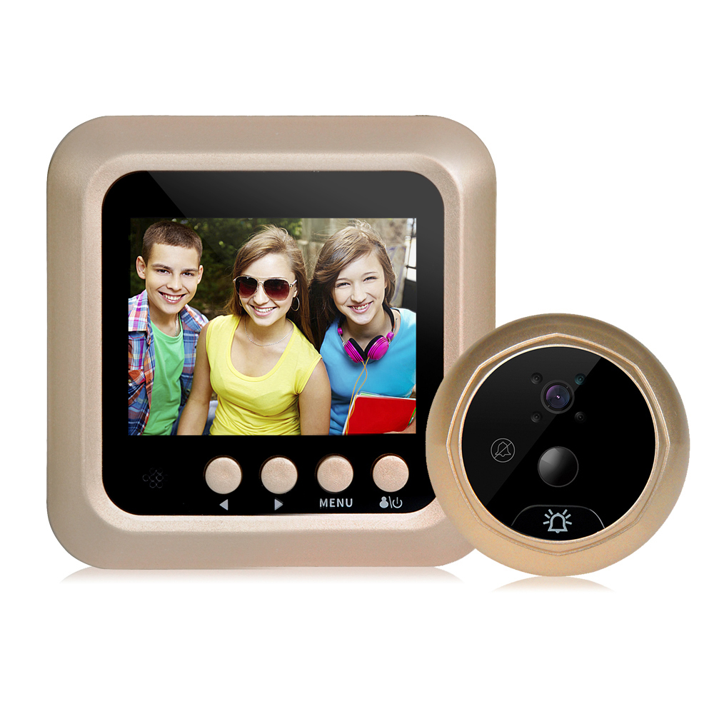 Digital Door Viewer Doorbell 2.4Inch LCD Security Camera Monitor Wide Angle Lens Video Record Photo Shooting Motion detection