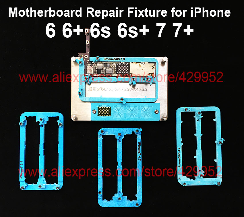 Logic Board Clamps High Temperature Resistant Main Motherboard PCB Fixture Holder for iPhone 6 6S 7 Plus Fix Repair Mold Mould high temperature resistant pcb motherboard test fixture jig holder maintenance repair platform for iphone 8 8p 7 7p 6 6s 5 5s
