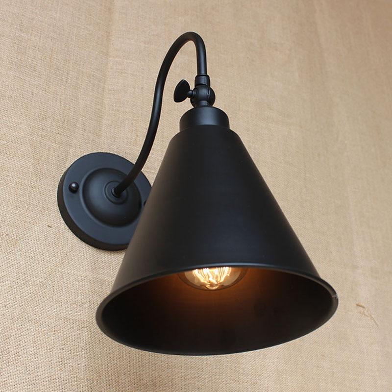 Zeitgenössische Retro Vintage LOFT BLACK Edison Metall Wandleuchte - Innenbeleuchtung - Foto 3