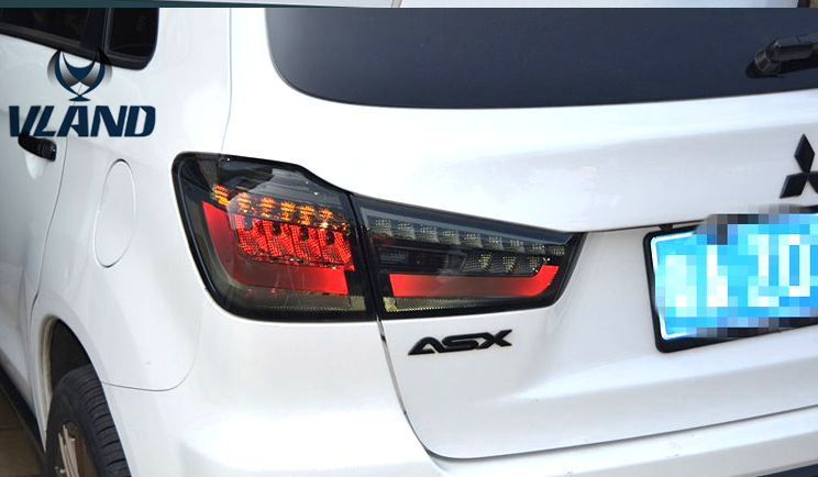 Free shipping Vland auto Car Accessories for mitsubishi ASX tail lamp LED rear light 2012 2013 2014 2015 2016 auto car led number license plate lights lamp bulb car styling xenon white for mitsubishi asx vehicles tail rear lamp
