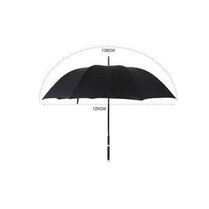 Image 2 - HHYUKIMI Marke Mode Lange Griff Mann Automatische Regenschirm Winddicht Business Schwert Krieger Selbst verteidigung Sunny Kreative Regenschirm