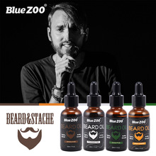 Blue ZOO 100% natural organic mens beard oil moisture and smooth hair growth oil