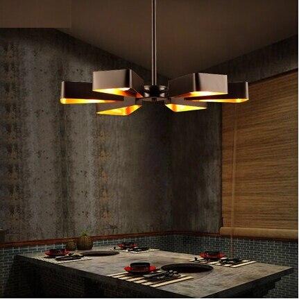 Nordic Loft Style Iron Fun Retro Led Pendant Light Fixtures For Dining Room Vintage Hanging Lamp Suspension Luminaire