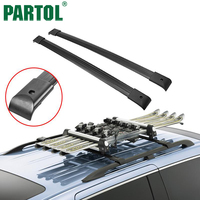 Partol Black Car Roof Rack Cross Bars Roof Luggage Carrier Roof Rail For Honda Odyssey 2005