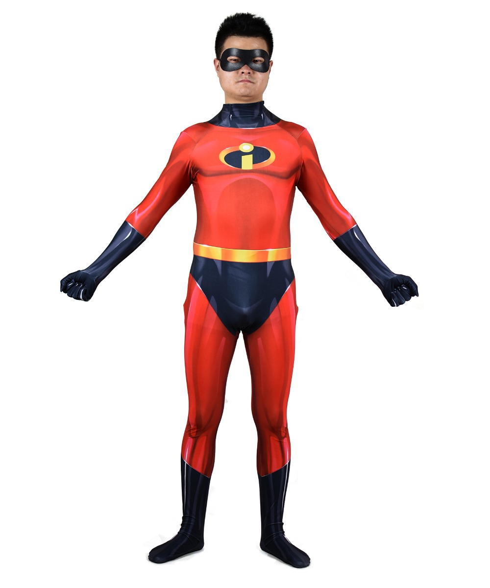 The Incredibles Costume Man Cosplay Costumes Adult Lycra Suit Spandex Zentai Bodysuit Halloween Birthday Carnival Party Tight