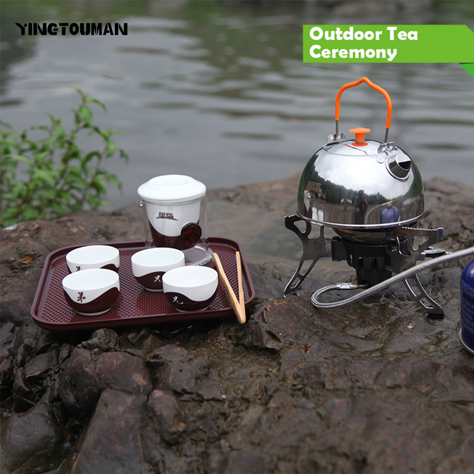 BRS-TC01 Titanium Outdoor Camping Stoves Ceramic Tea Kung Fu Ceremony Supplies Coffee Can Outfit Outdoor Portable Tea Ceremony стоимость