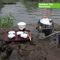 BRS TC01 Titanium Outdoor Camping Stoves Ceramic Tea Kung Fu Ceremony Supplies Coffee Can Outfit Outdoor
