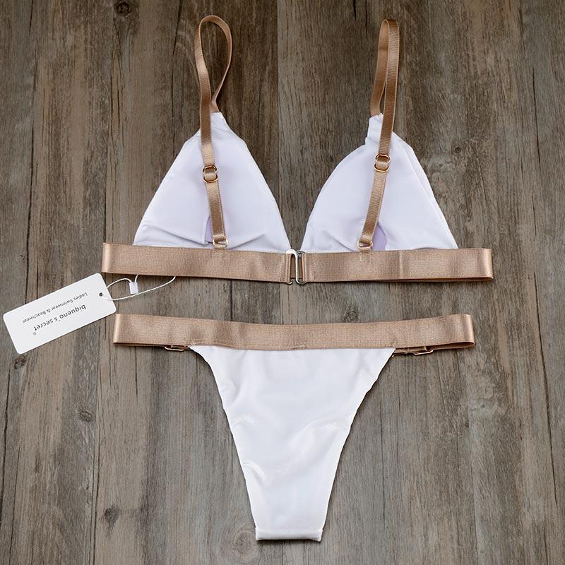 ALI shop ...  ... 32834293875 ... 2 ... Biqueno`s Secret White Velvet Swimwear Women Bikini 2019 Hot Bandage Brazilian Biquinis Set Sexy Low Waist Bathing Suit Swimsuit ...