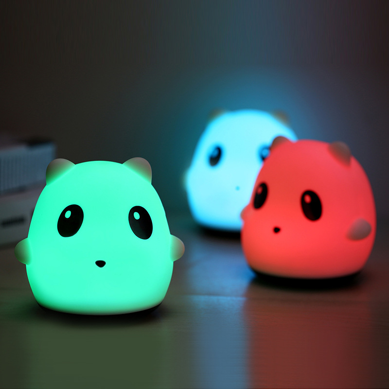 New Cute USB Rechargeable Panda LED Night Light Colorful Animal Soft Silicone Baby Night Lights Lamp for Children Gift Toy