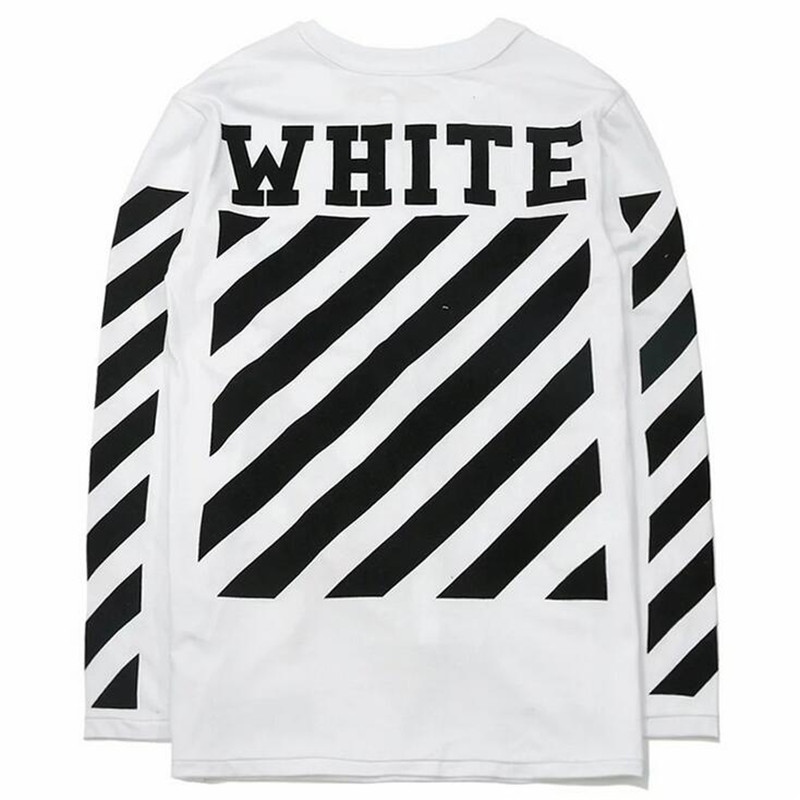 Off White Men Women Long Sleeve T Shirt Brand Clothing Men