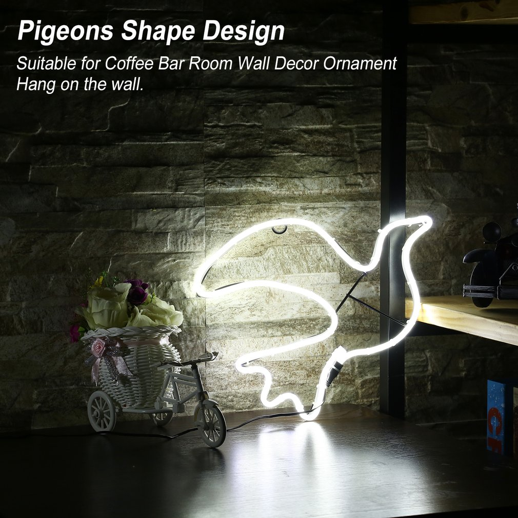 Neon Sign Light Bells Shape Coffee Bar Room Wall Decoration Ornament Crafts Holiday Lighting