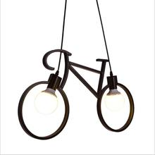 Nordic artistic bicycle chandelier Restaurant bedroom lamps children's room features a balcony hallway aisle lights, AC110-240