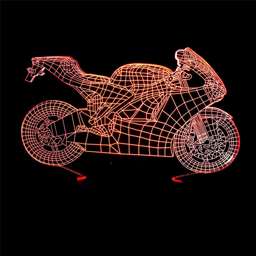 motorcycle 3D night light (4)