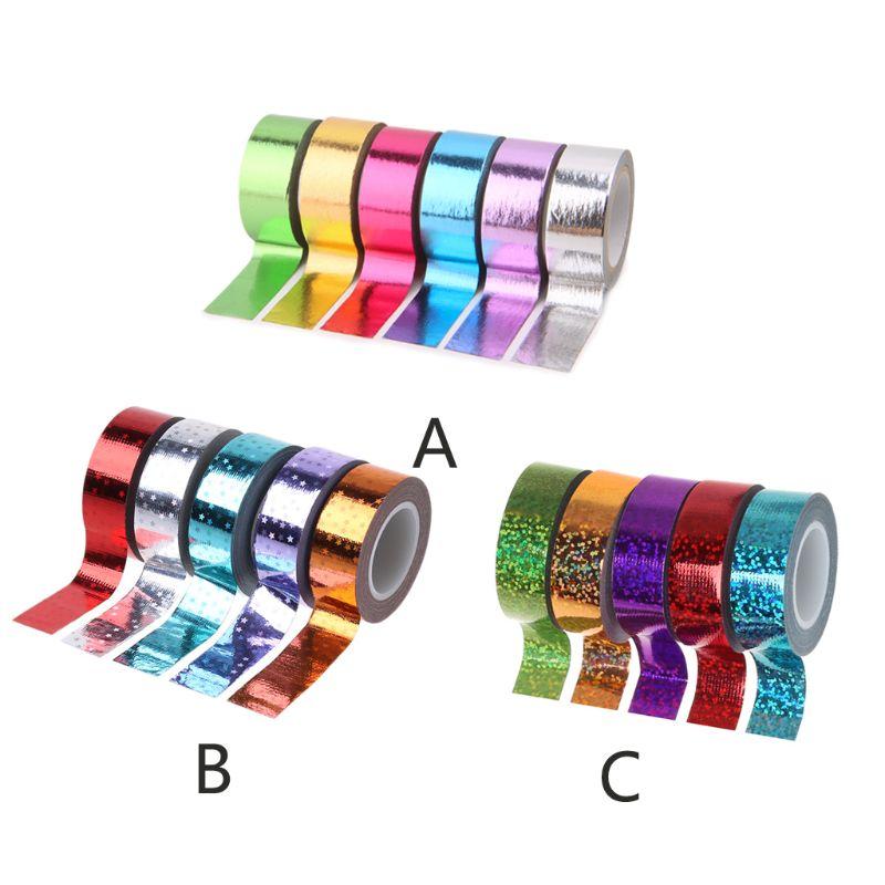 Washi Tape Set 20 Rolls Kids Tape Decorative Masking Holographic Scrapbook Tape