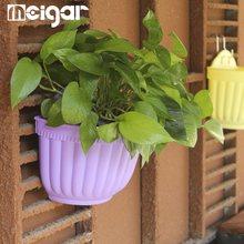 Hanging Basket Planter Flower Pots Plastic Wall Hanging Multi Colors Storage Flexible Chain Pots Home Garden Decorative Craftses