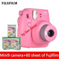 Новый 5 цветов Fujifilm Instax Mini 9 Моментальное фото Камера + 60 листов Fuji Instax Mini 8 белая пленка + закрыть up объектива
