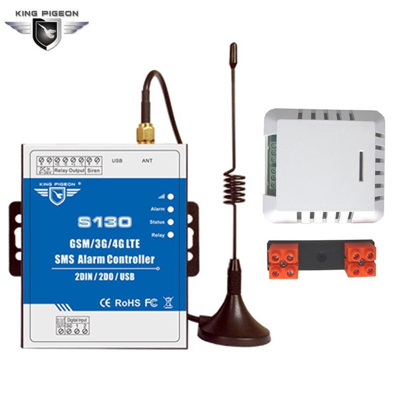GSM 3g 4g Télécommande Alarme de Fuite D'eau Capteur Détecteur Intelligent Système de Surveillance Automatique SMS Contrôle S130