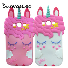 For Samsung Galaxy Grand DUOS i9082 3D Pretty Unicorn Soft Silicone Case Phone Cover Skin For Samsung Galaxy Grand Neo i9060 protective pu leather cover plastic hard back case for samsung galaxy grand duos i9082 red black