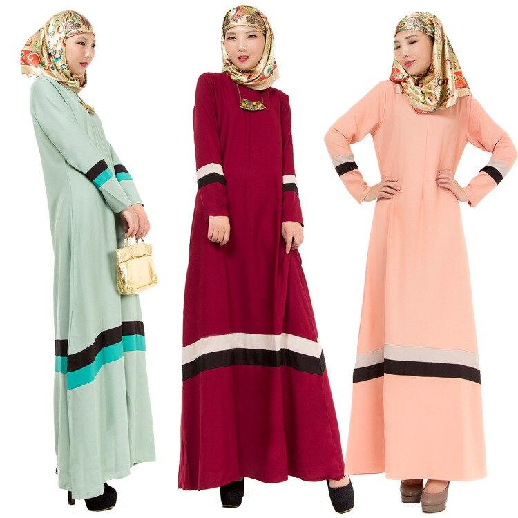 check-out 8b0d9 a3dec US $18.6 6% di SCONTO 3 Colori Womem Musulmani Abaya Lunghi Coloranti Abiti  Ragazza Etnica Vestito Islamico Abaya Signore Abiti Per Adulti Malesia ...