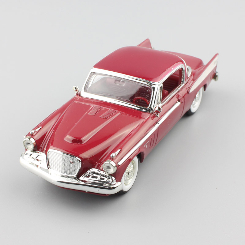 1 43 Scale small classic 1958 Studebaker Golden Hawk coupe sedan diecast wagon hobby Collectible metal mint model Car toy gifts