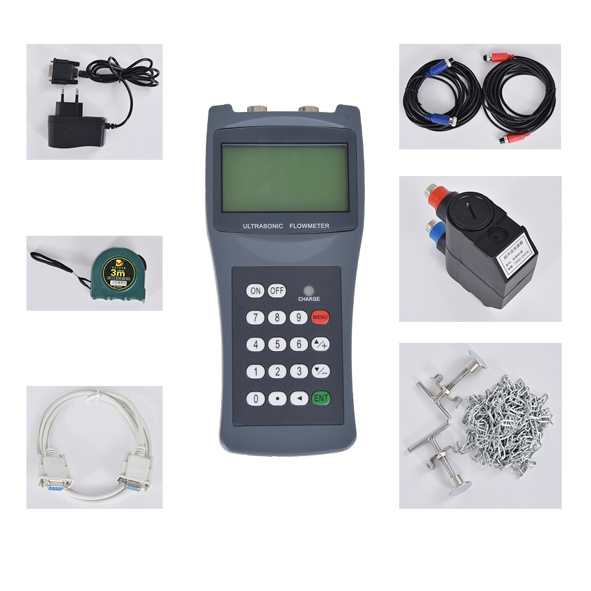 TDS-100H Handheld Ultrasonic Flow meter M2 ( 50-700mm ) with CD water flowmeter 100-240V Portable Handheld ultrasonic flowmeter l2 sensors transducer dn300mm dn6000mm apply to ultrasonic flow meter tds 100f and tds 100m flowmeter