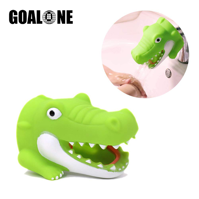 GOALONE Cartoon Faucet Extender Silicone Animal Spout Handle Faucet Extender For Kids Cute Toy Children Safe Kitchen Accessories