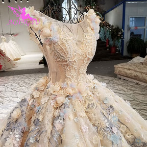 Image 3 - AIJINGYU חתונה כובע שמלות שני באחד דובאי אירוסין ארוך סקסי דובאי מוסלמי שמלת כלה חנויות