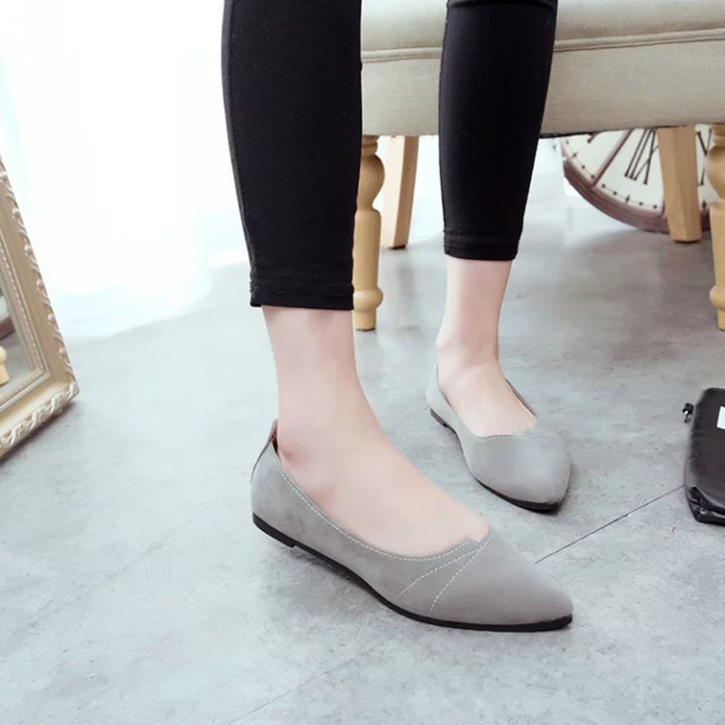 Fashion Women Shoes Woman Flats high quality suede Casual Comfortable pointed toe Rubber Women Flat Shoe Hot Sale New Flats hot sale 2018 new fashion lightweight breathable shoes leather flat women shoes comfortable classic style casual sneakers