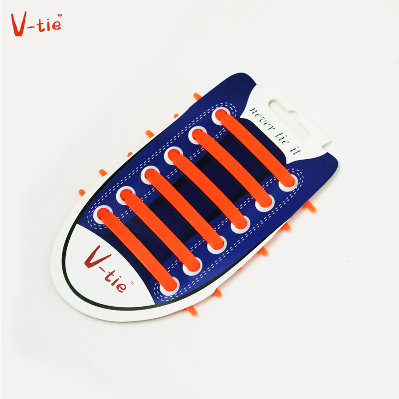 Suit 1-50 Sets Solid Orange Creative Flexible arrow-shaped Creative Silicone No-Tie Shoelaces Fashionable Elastic Trainers Laces n 1 50 sets orange yellow buckle elastic shoes buckles hole plastic stopper toggle clip apparel shoelaces sportswear accessorie