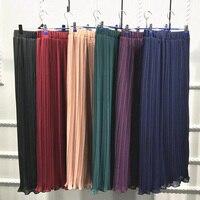 2019 High Waist Long Muslim Skirt Elegant Turkish Arab Dubai Islamic Clothing Maxi Pleated Skirt Party Bodycon Pencil Skirts