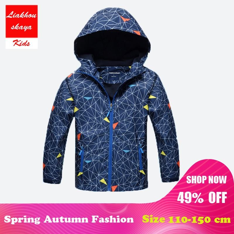 abd14563ffbe9 Liakhouskaya 2018 New Style Fashion Kids Children s Sport Running Jacket  Coat Boys Windproof Outerwear Windbreaker Boy Clothes