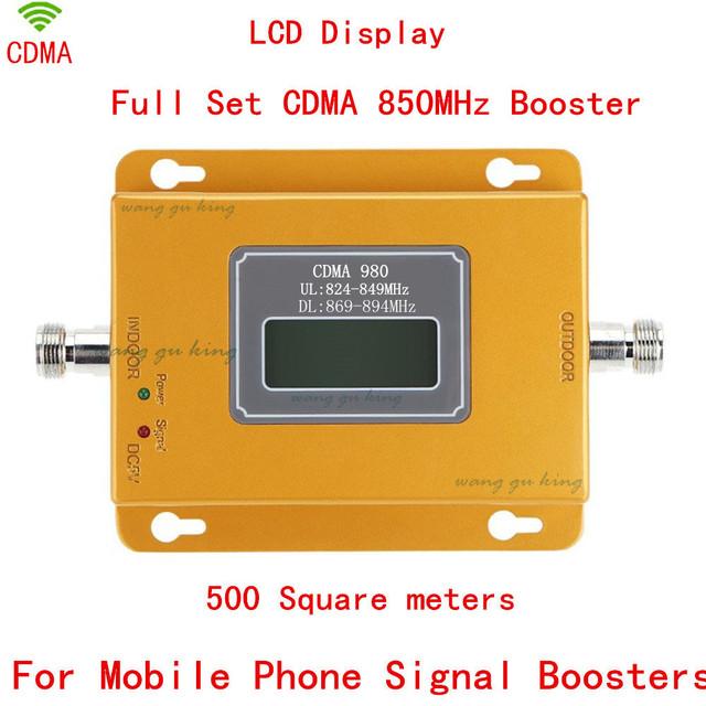 70dB cdma Repetidor amplificador de señal de celular 850 mhz repetidor de señal cdma 850 mhz teléfono móvil amplificador de señal con LCD pantalla